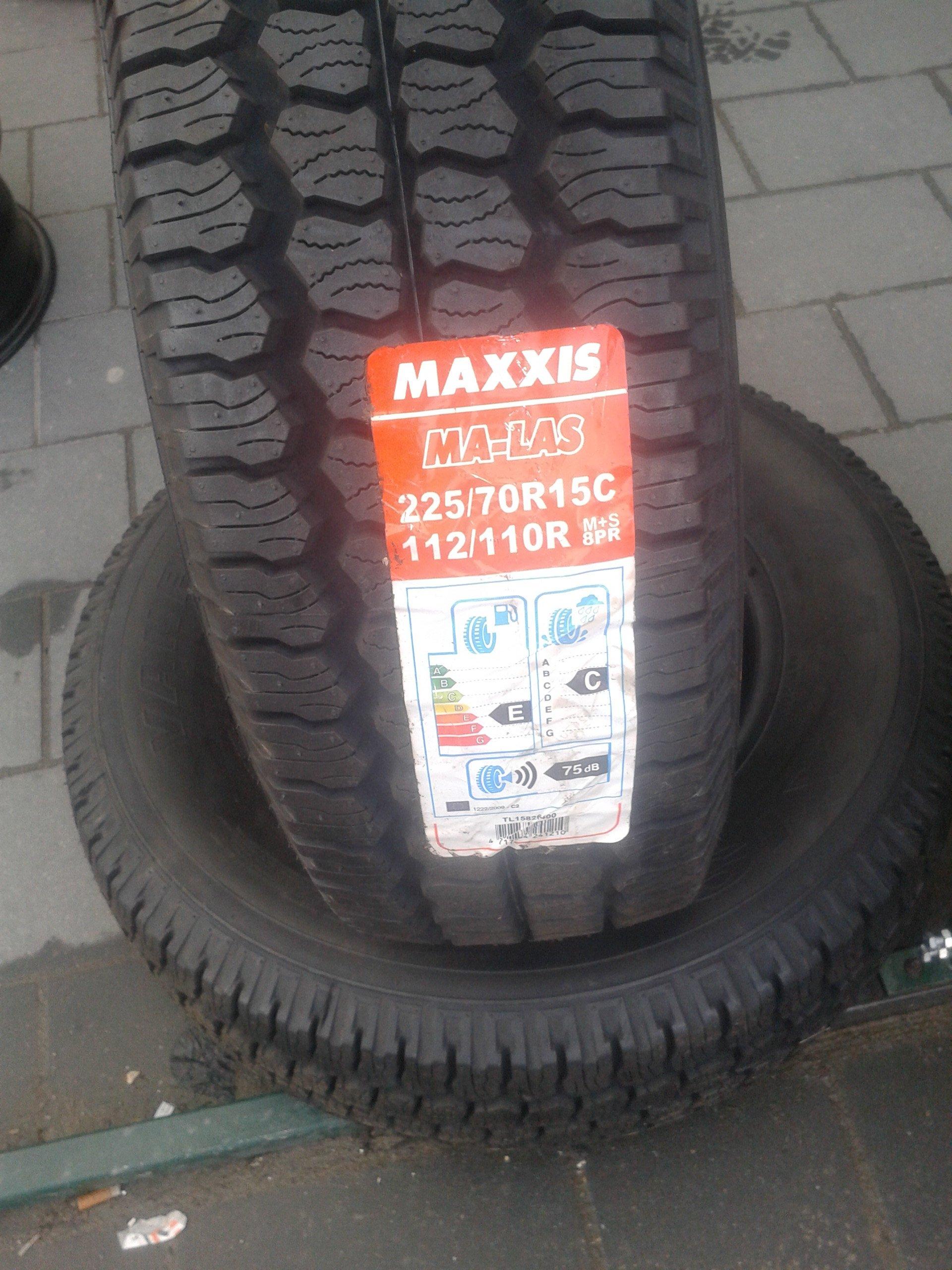 2x 22570r15c Opony Całoroczne Maxxis Ma Las Nowe 7059808140