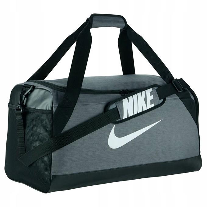 3aa70a0073876 Torba sportowa Nike Brasilia Duff M - Szara - 7429294874 - oficjalne ...