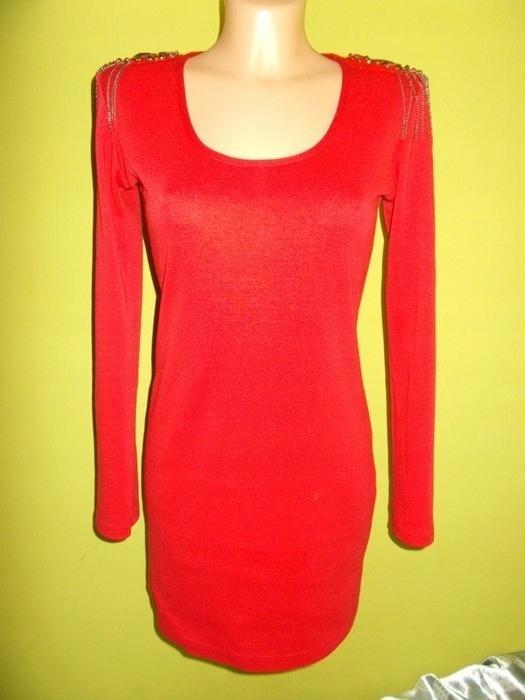 Sukienka ołówkowa czerwona wesele ATMOSPHERE 38