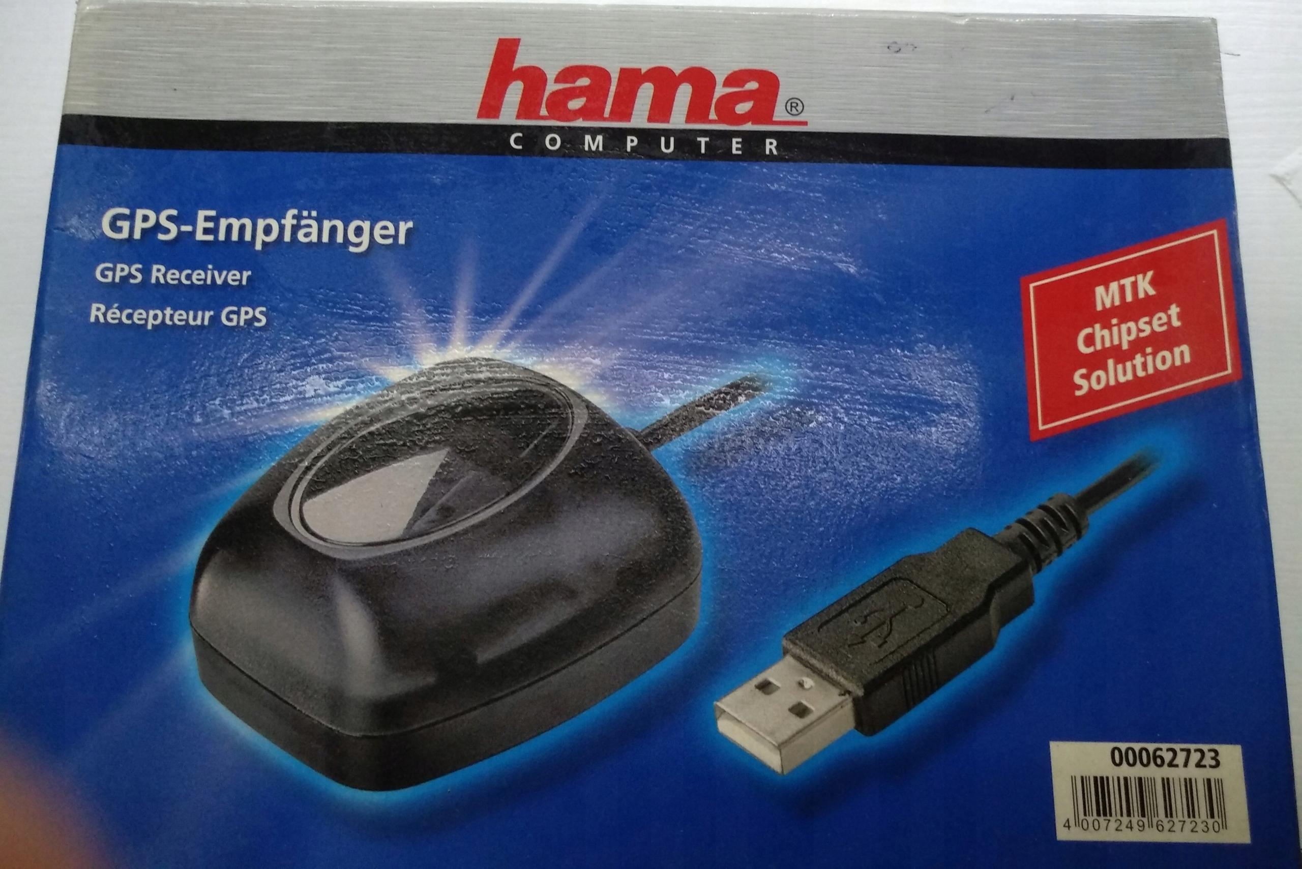 Odbiornik gps, USB firmy hama