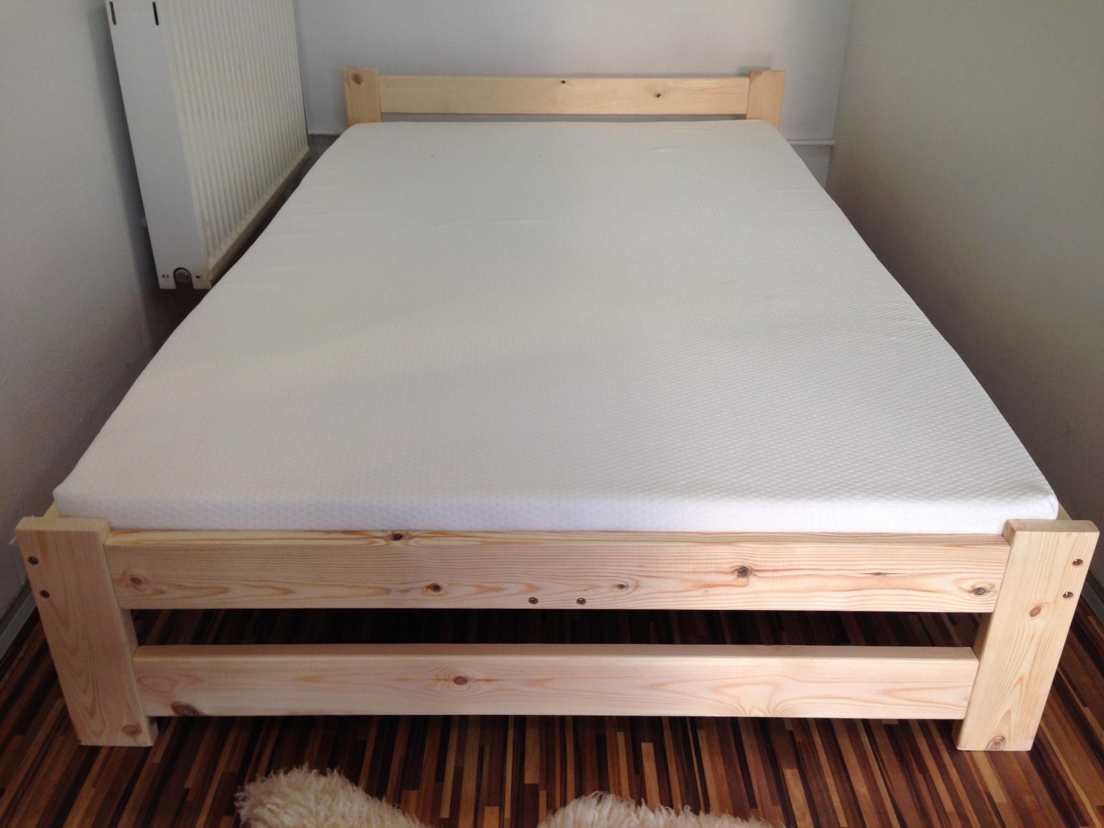 łóżko Drewniane Sosnowe 160x200 Producent Stelaż