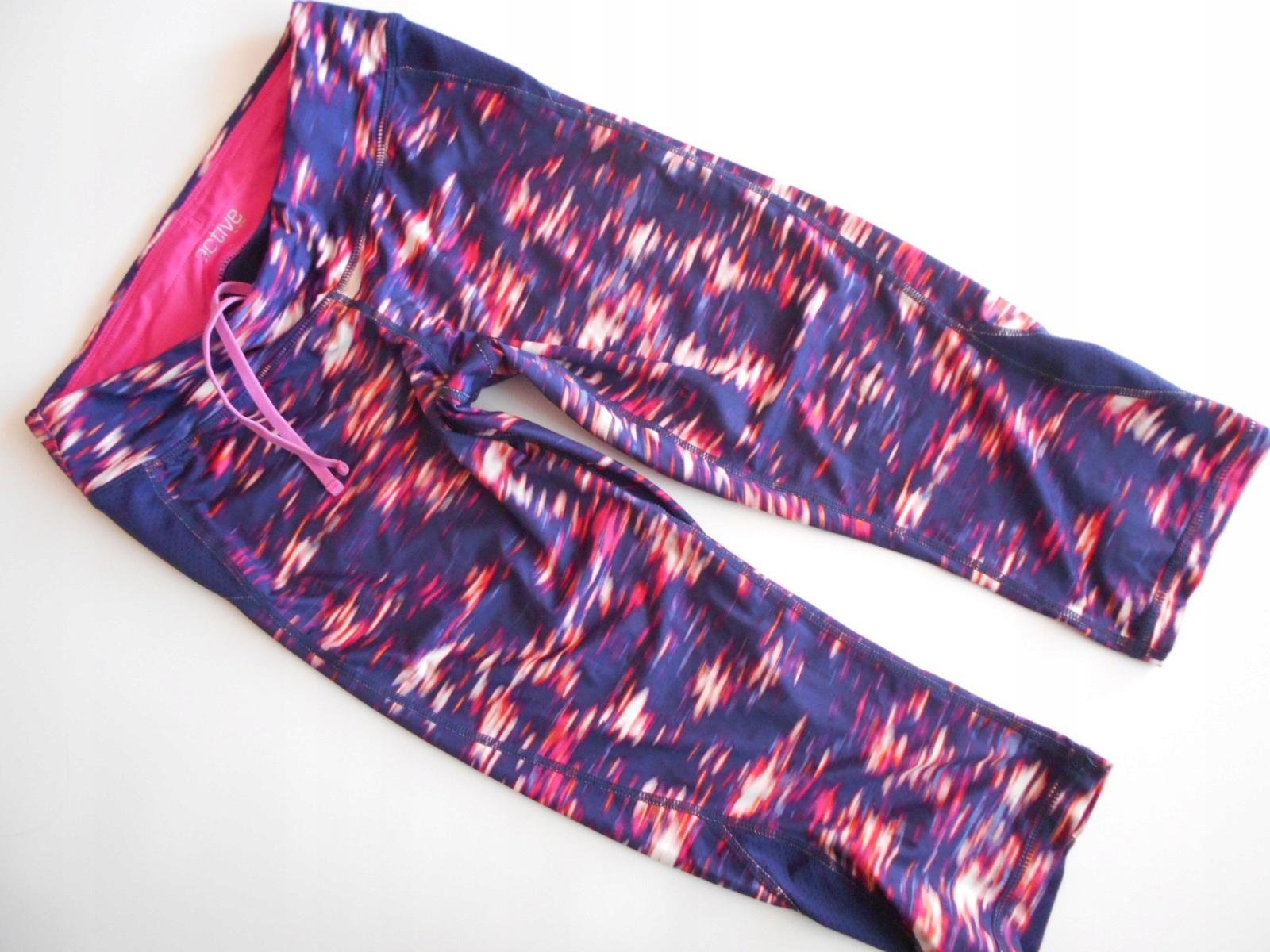 628efd0886 TCHIBO legginsy sportowe kolorowe WZORZYSTE S - 7663709252 ...