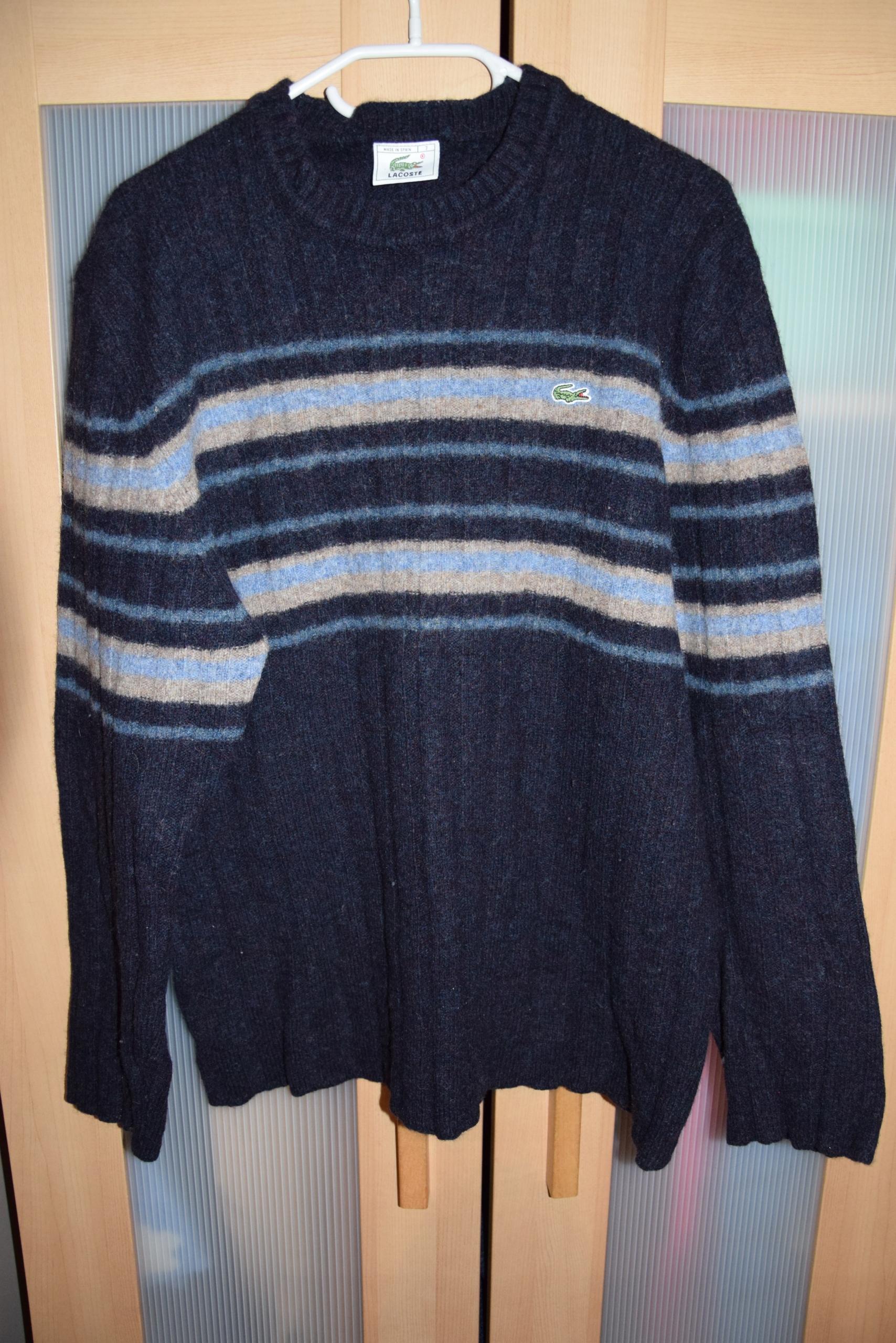 cc7112cdf Swetr Lacoste ciepły L męski wełna - 7595617400 - oficjalne ...