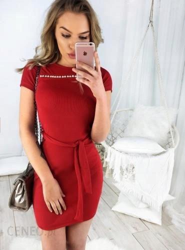 285f902d SELFIEROOM sukienka Kesia czerwona z perłami uni. - 7671316198 ...