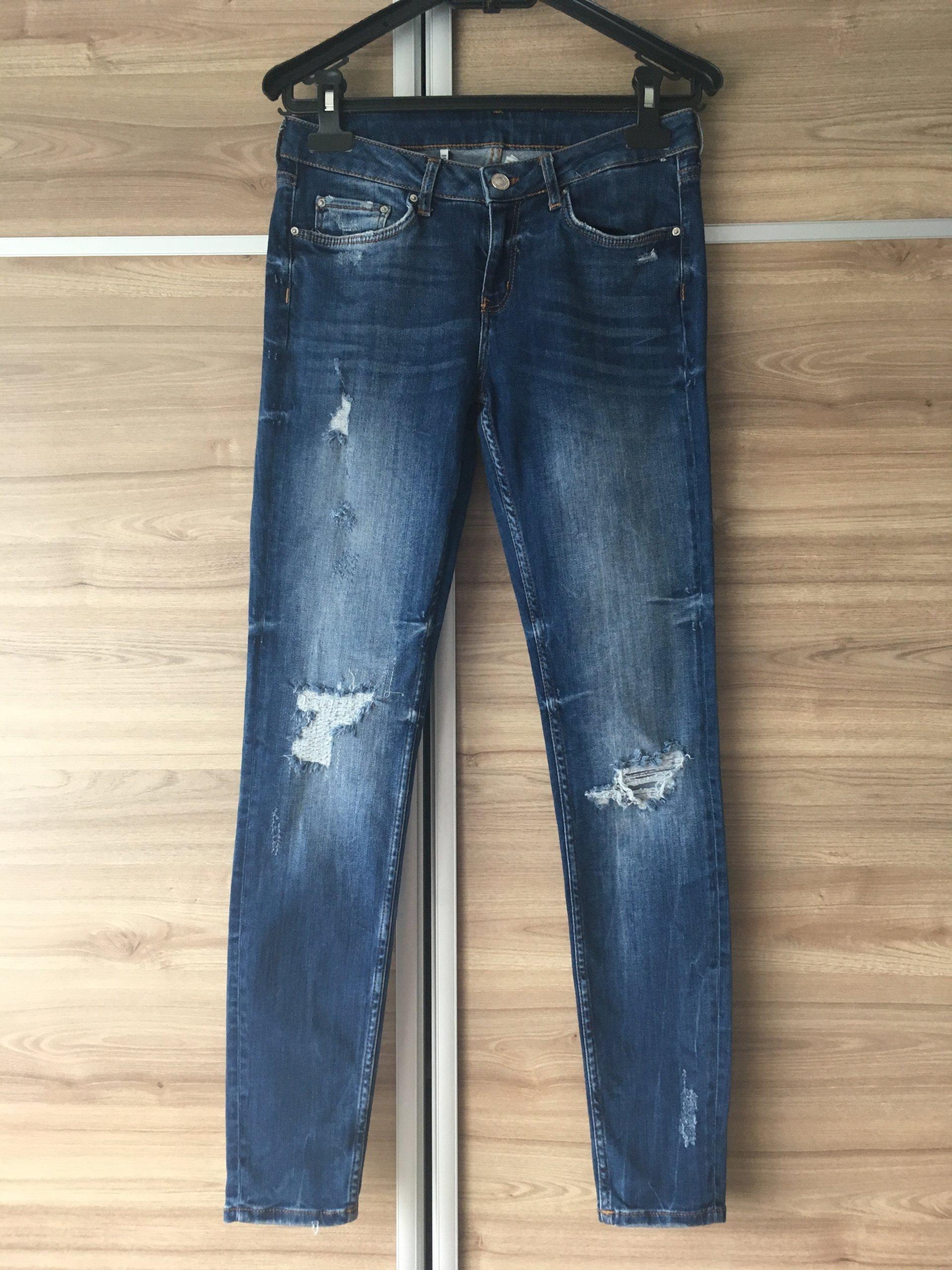 Spodnie jeansy Zara WOMAN r.38(M) rurki 7352708998