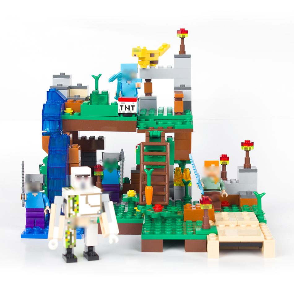 Klocki Minecraft Zestaw 4 W 1 Kot Ocelot Smoki 7249995153