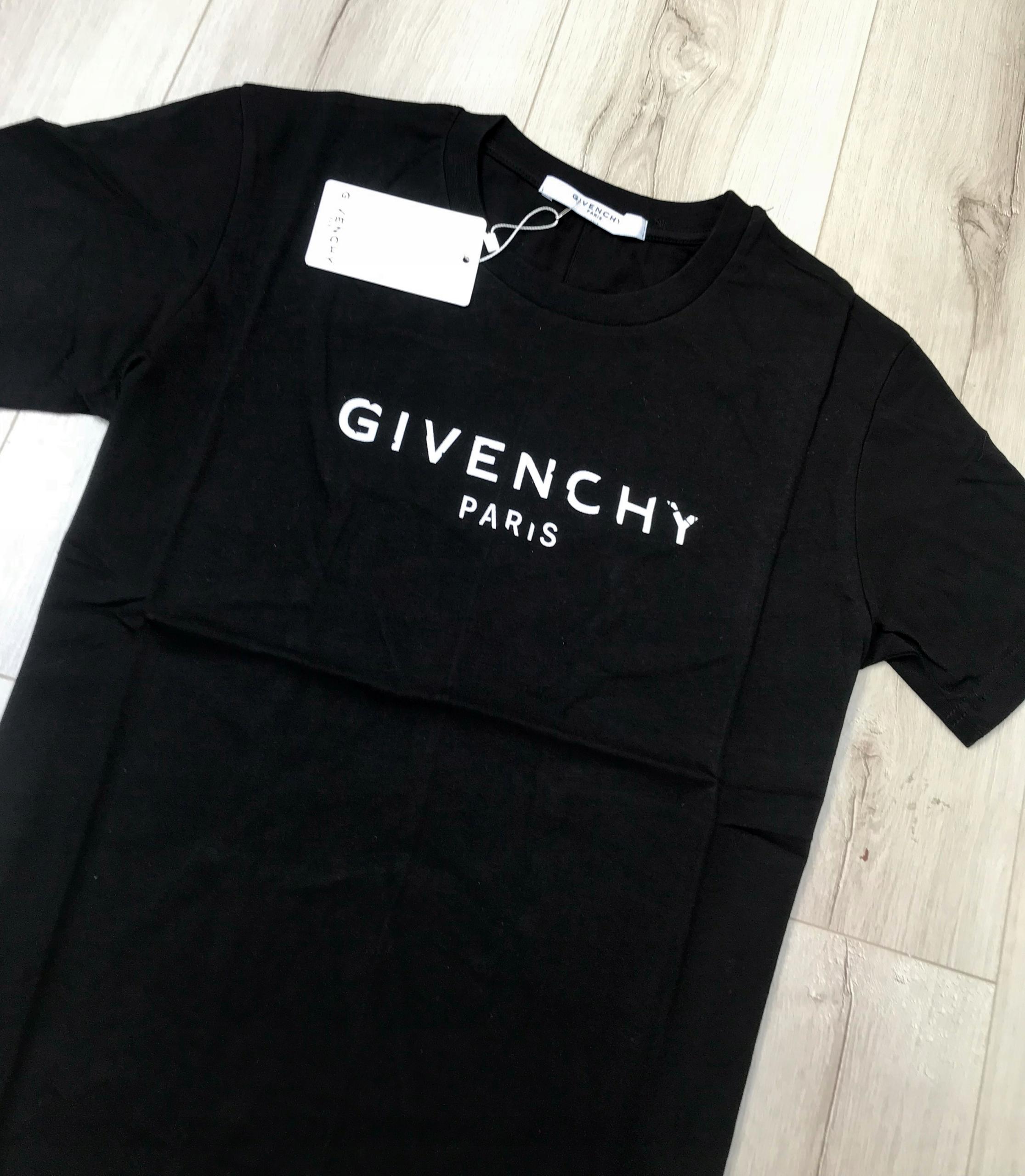 Super Koszulka T-Shirt Givenchy Paris Slim Fit M - 7477862318 GS01