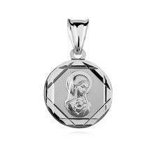 Srebrny medalik Matka Boska Madonna