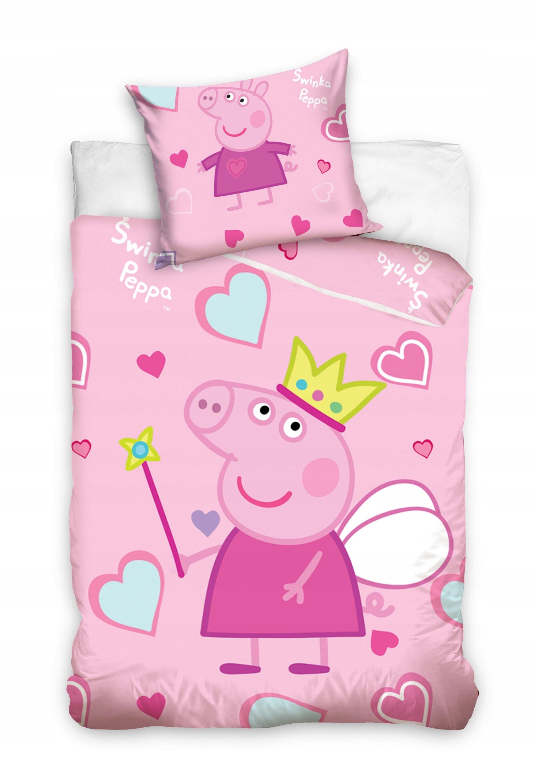Pościel Dziecięca 100x135 świnka Peppa Pepa 7381683570 Oficjalne