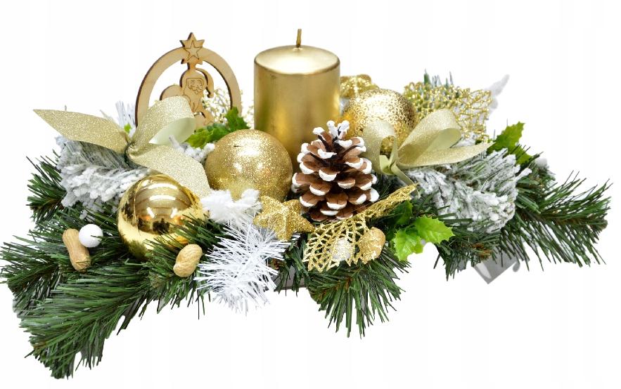Stroik Boże Narodzenie święta Dekoracja Na Stół 7673912998