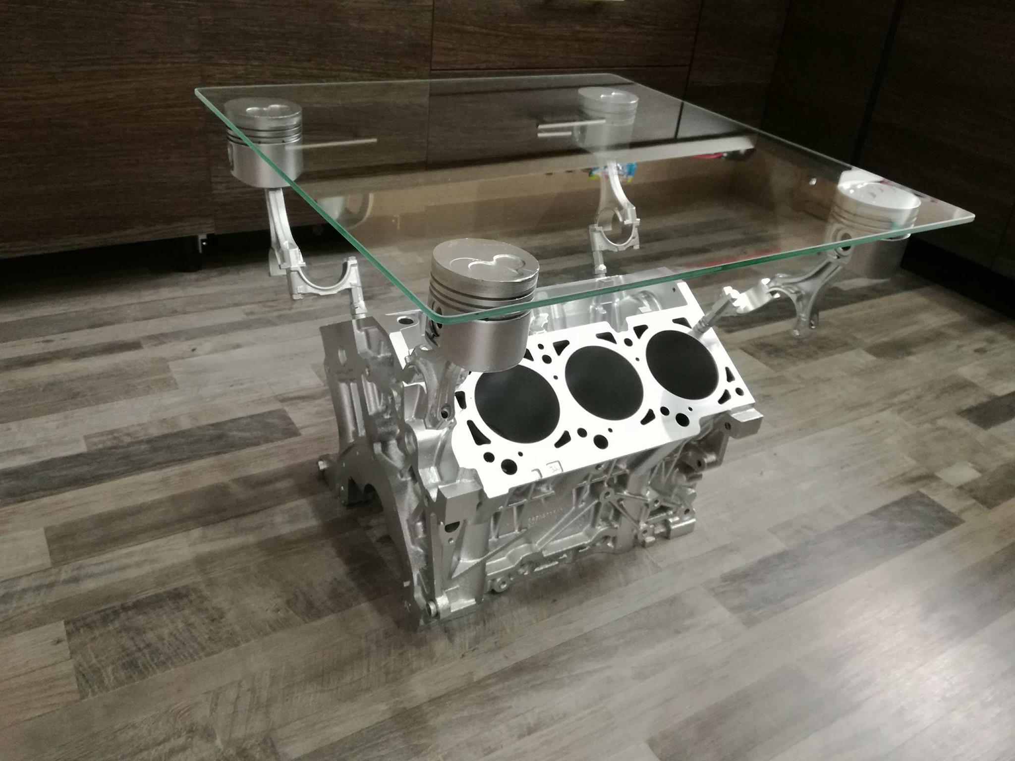 Stolik Z Bloku Silnika V6 Prezent Engine Table 7087821128