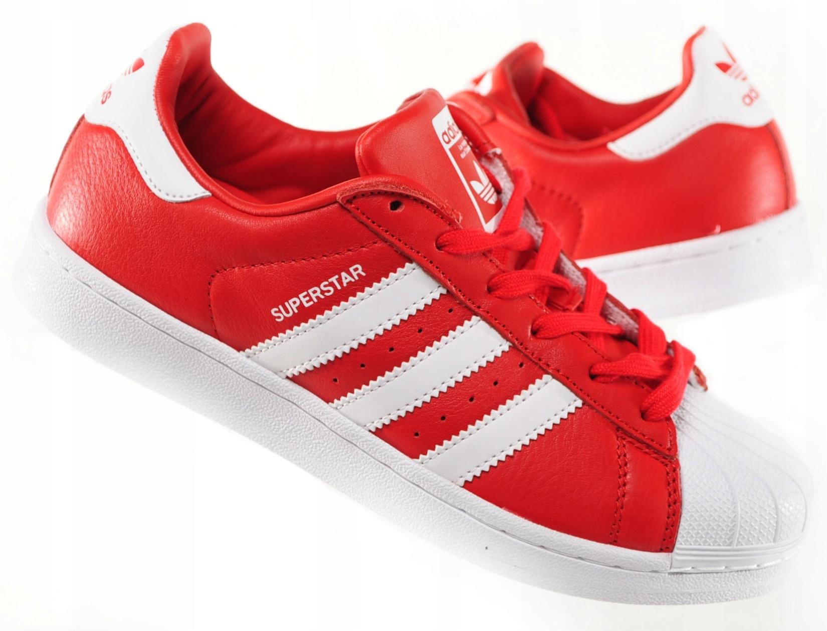 9e66d946 Adidas Superstar Buty Damskie Czerwone 36 2/3 - 7383869162 ...