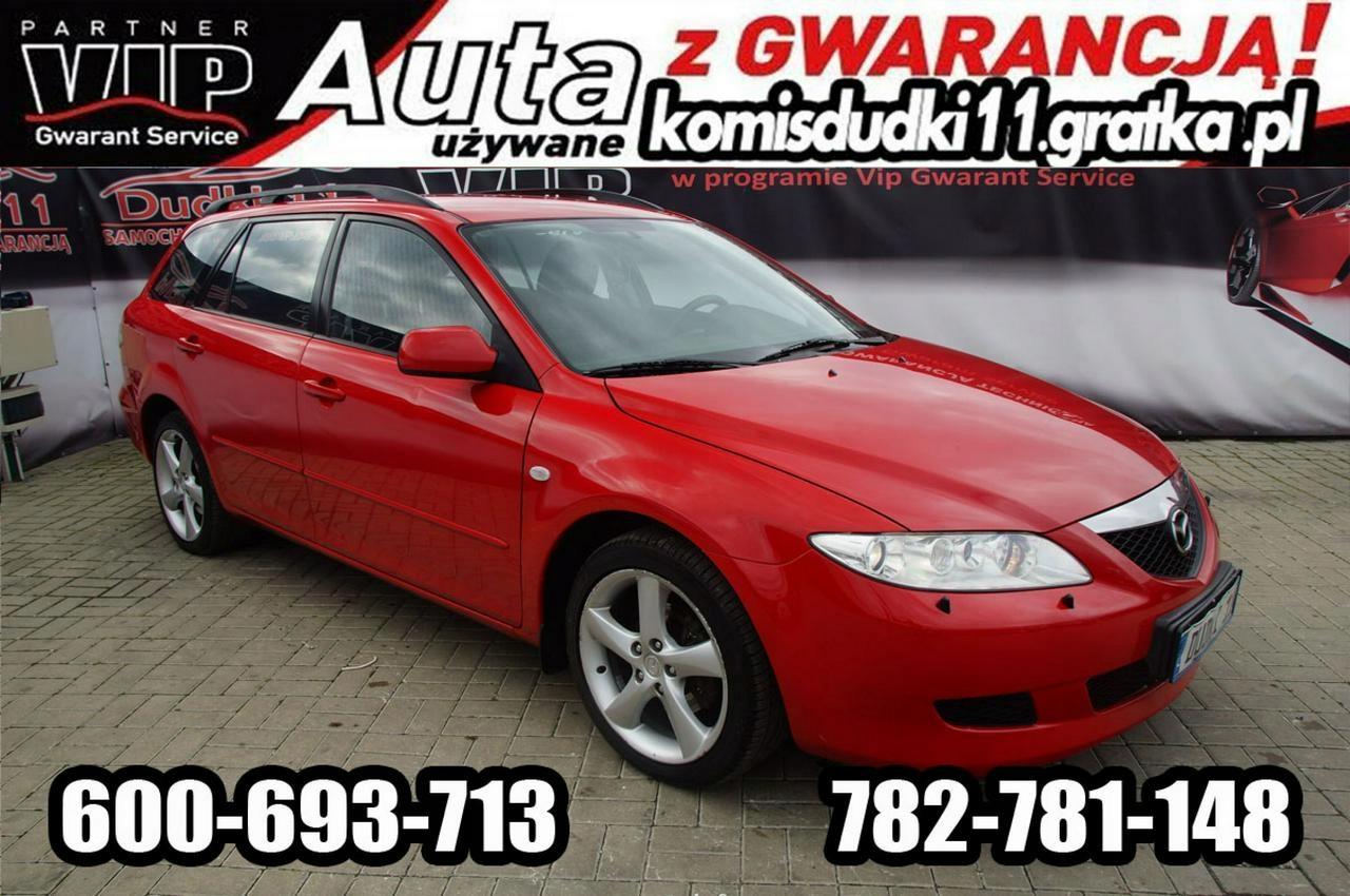 Mazda 6 2,3b DUDKI 11, Klima, alu,xenon,kredyt,