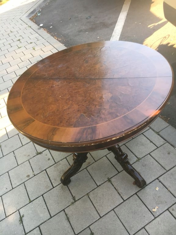 Stół Okrągły Rozkładany Antyk 7465220876 Oficjalne Archiwum