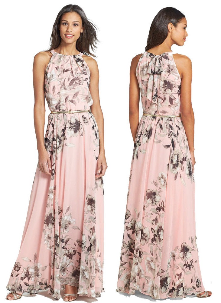 Sukienka Długa Letnia Kobieca Boho Wesele 7176185989 Oficjalne