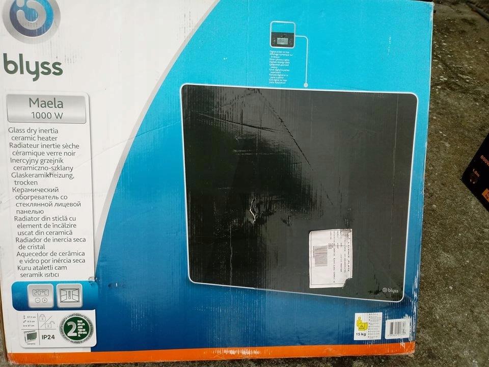 Grzejnik Promiennikowy Z Panelem Szklanym Blyss
