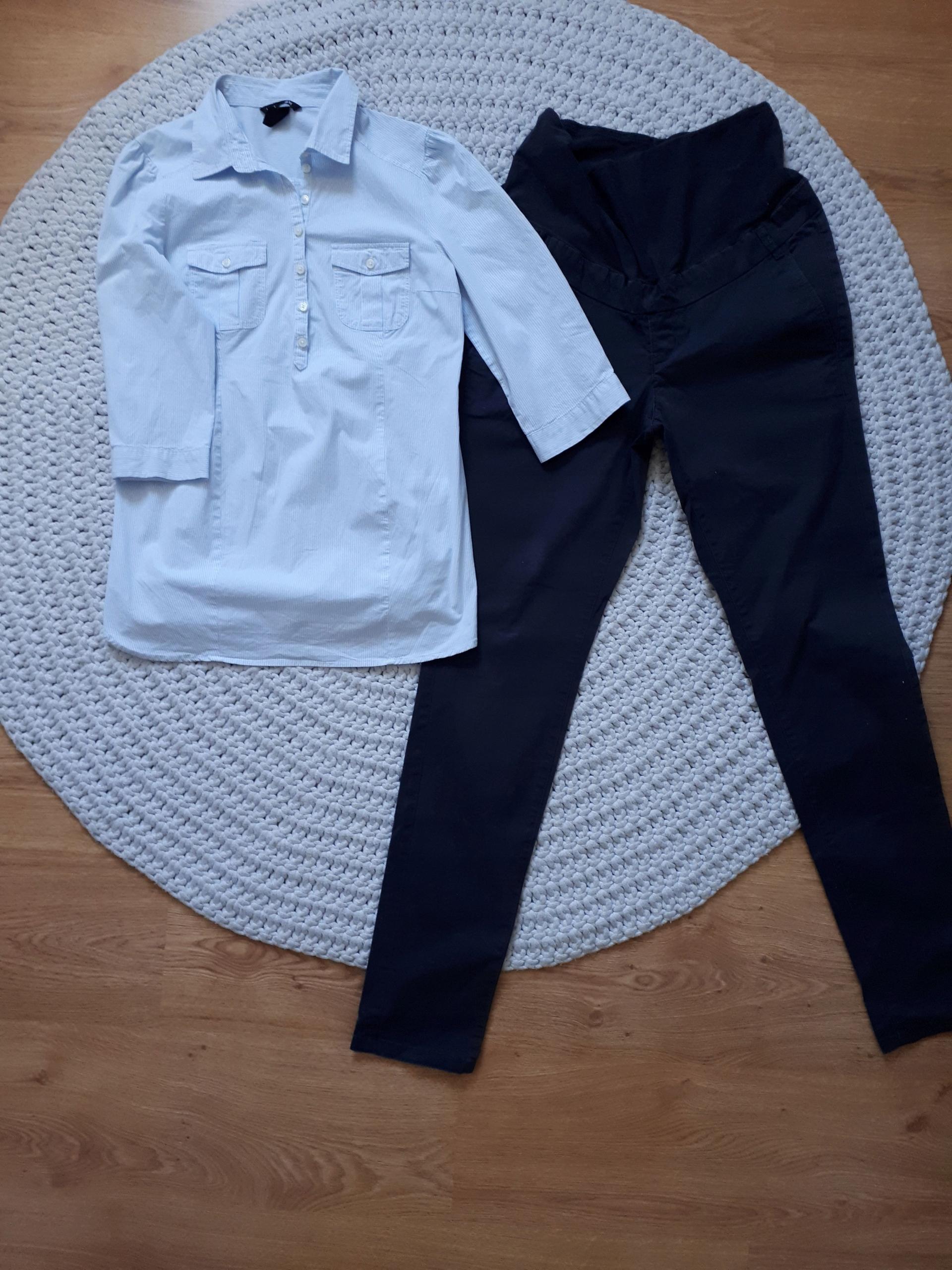 94e1e9ad spodnie ciążowe h&m 38 bluzka ciążowa rozm.S - 7456893582 ...