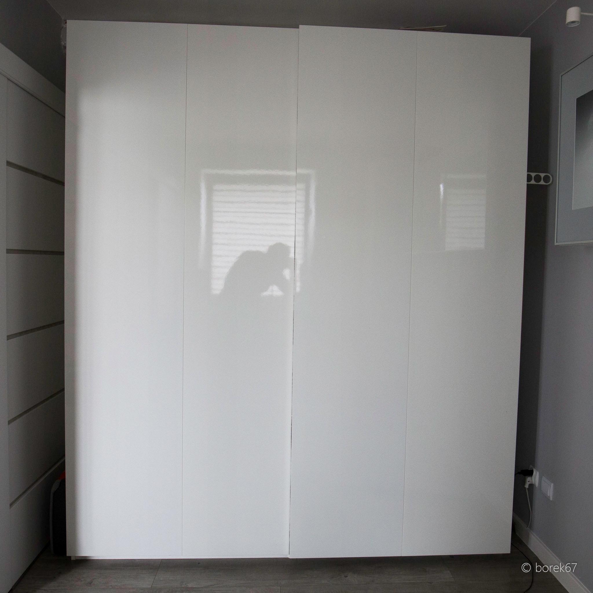 Drzwi Przesuwne Ikea Do Szafy Pax Biały Połysk 7456734153