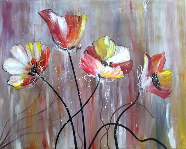 Obraz Akryl Kwiaty Płótno 80x100cm 7220345566 Oficjalne Archiwum