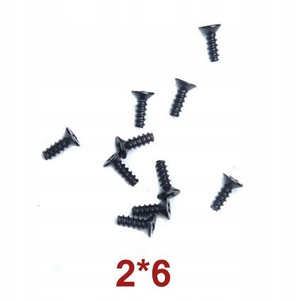 Countersunk Head Tapping Screws 2x6 Wl Toys A949-4