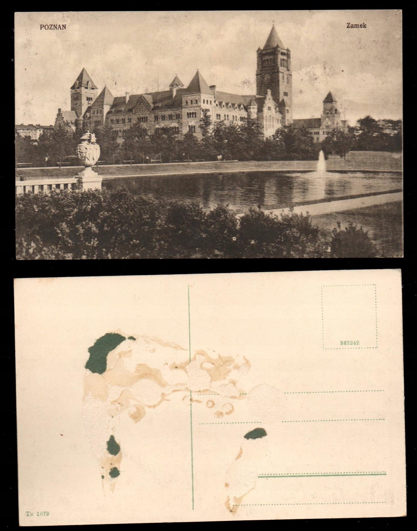 POZNAŃ Zamek Stara pocztówka