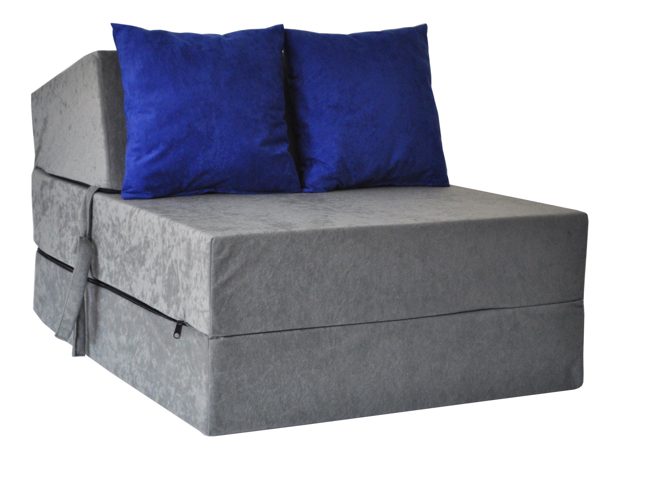 Fotel Rozkładany 15cm Materac Sofa Pufa Kanapa 6660436779