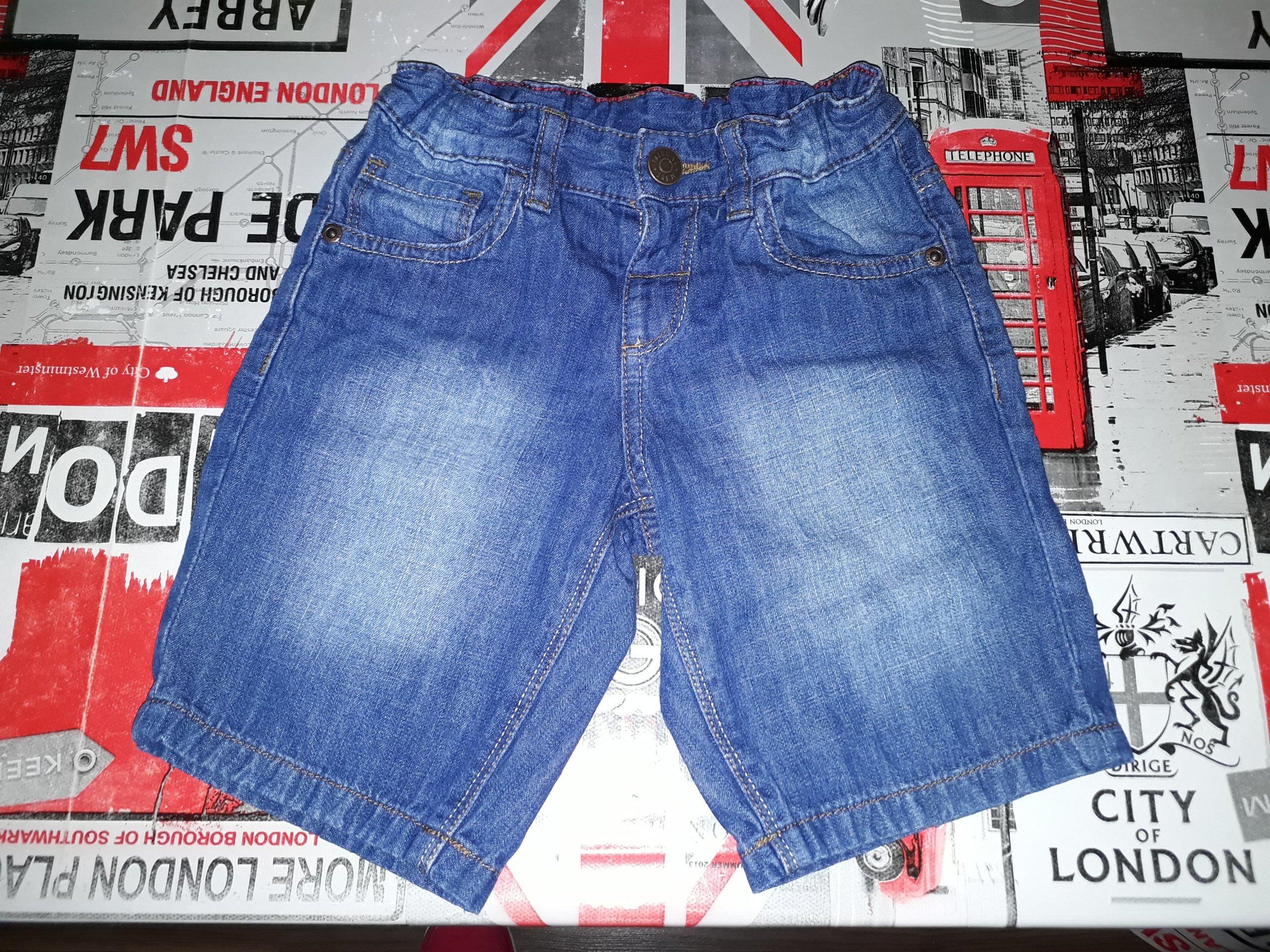 Spodenki jeansowe stan b.dobry rozm.98