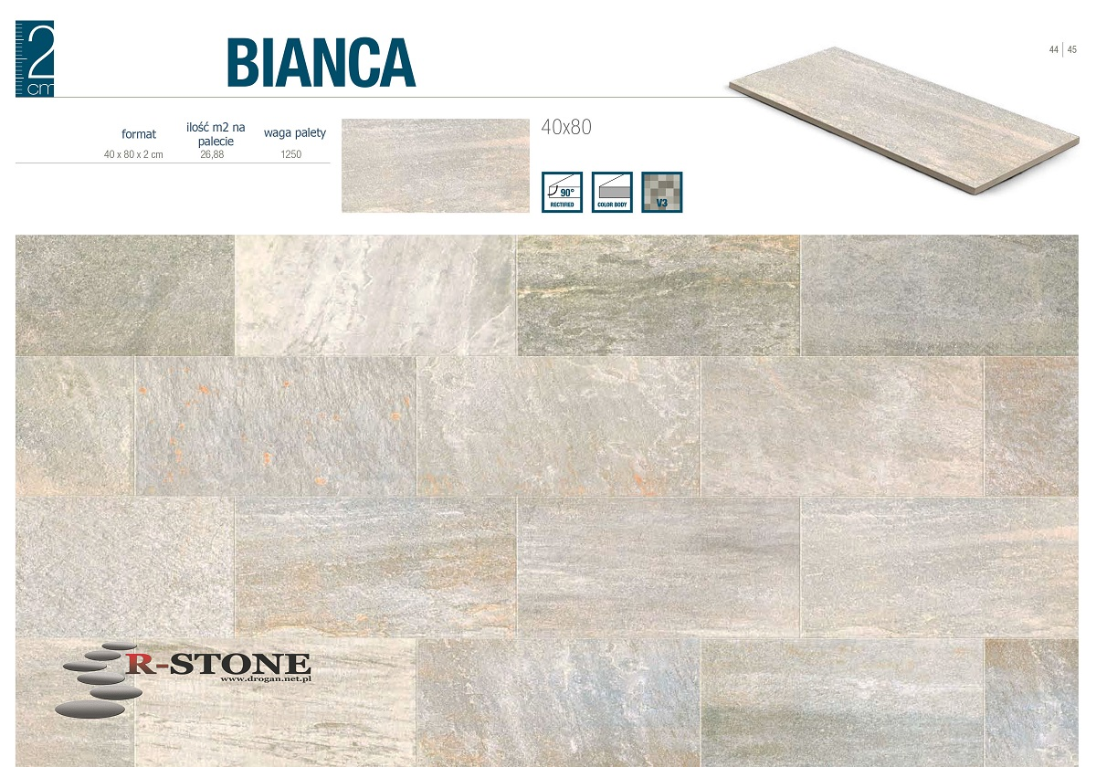 Włoskie Płyty Ceramiczne Tarasowe Bianca 7161858192
