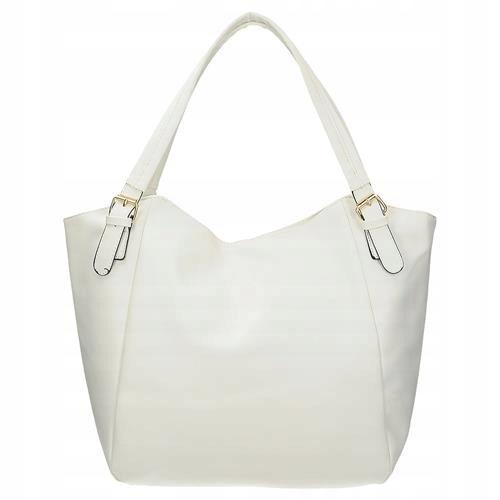5a9bae4490c09 Biała damska torba na ramię shopper - 7508222667 - oficjalne ...