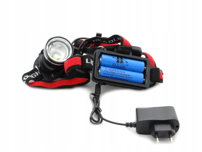 6ed533852784 Zestaw latarka czołowa LED akumulatory + ładowarka - 7391705143 ...