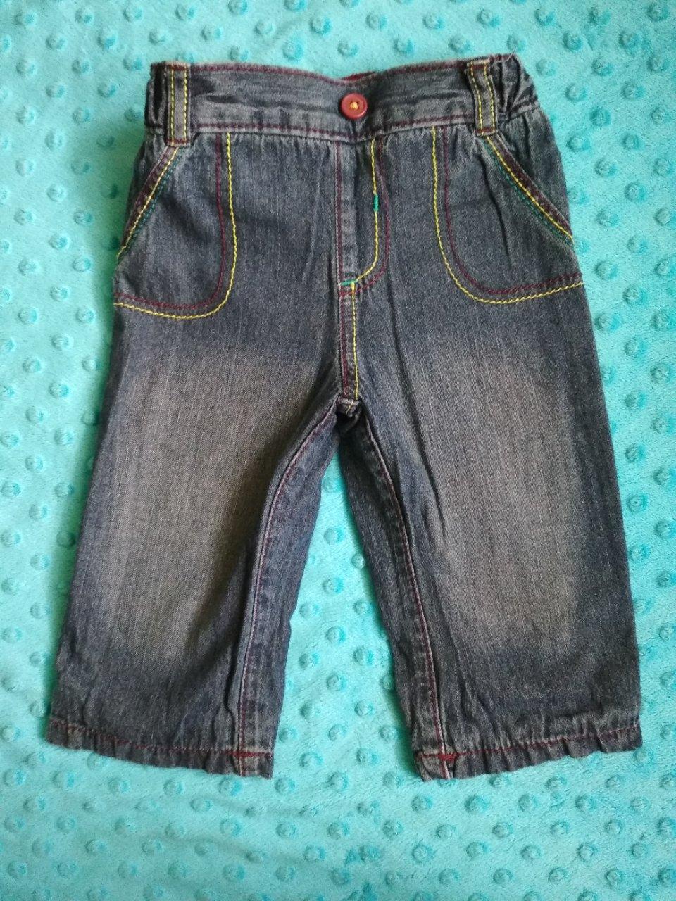Jeansowe spodnie rozmiar 68 - 74 George