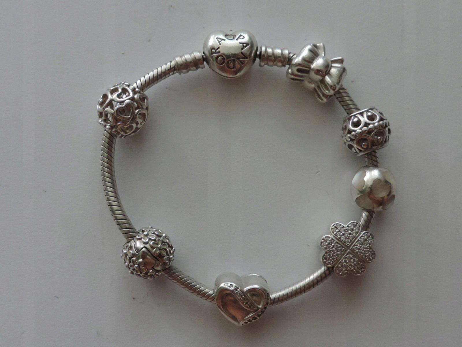 cdd54d0ebf50a8 Bransoletka srebrna Pandora oryginalna 17 cm - 7427668885 ...
