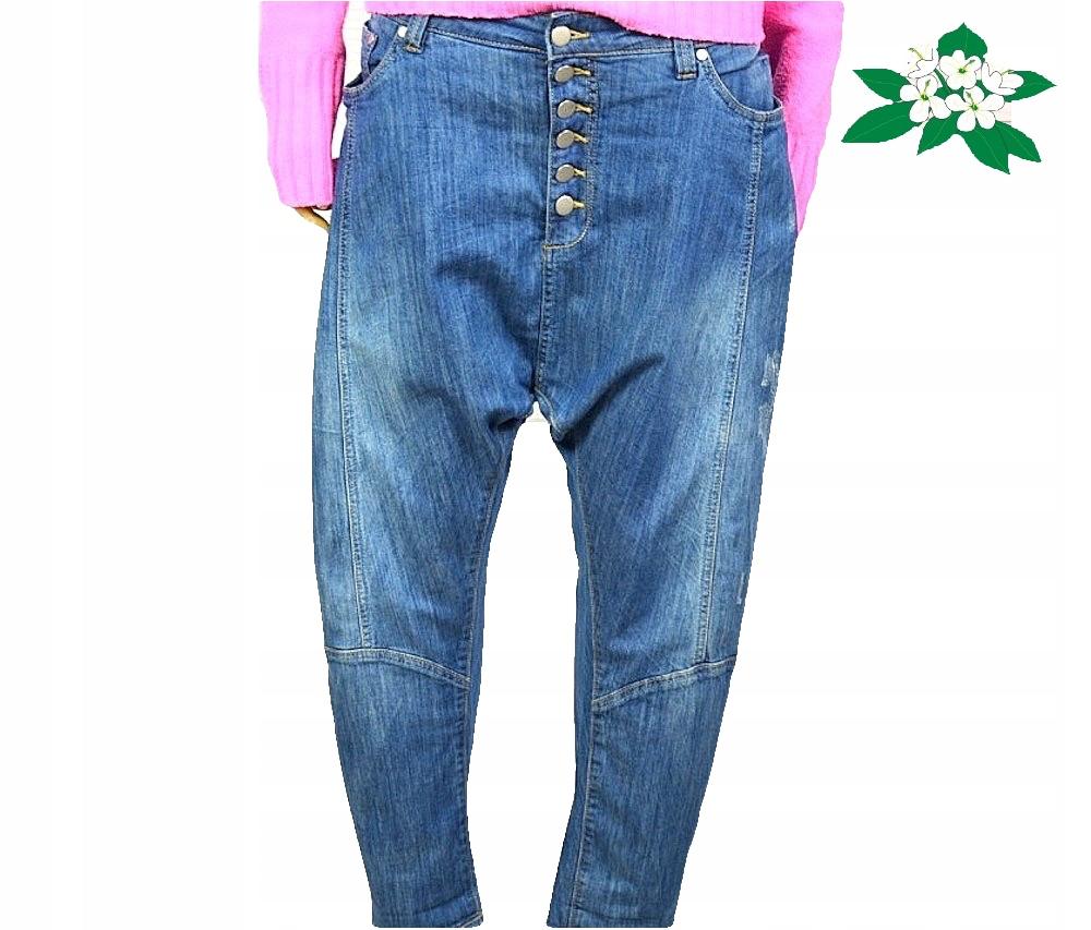 765b4ab0 Spodnie jeansy baggy boyfriend dżins niski krok L - 7716041042 ...