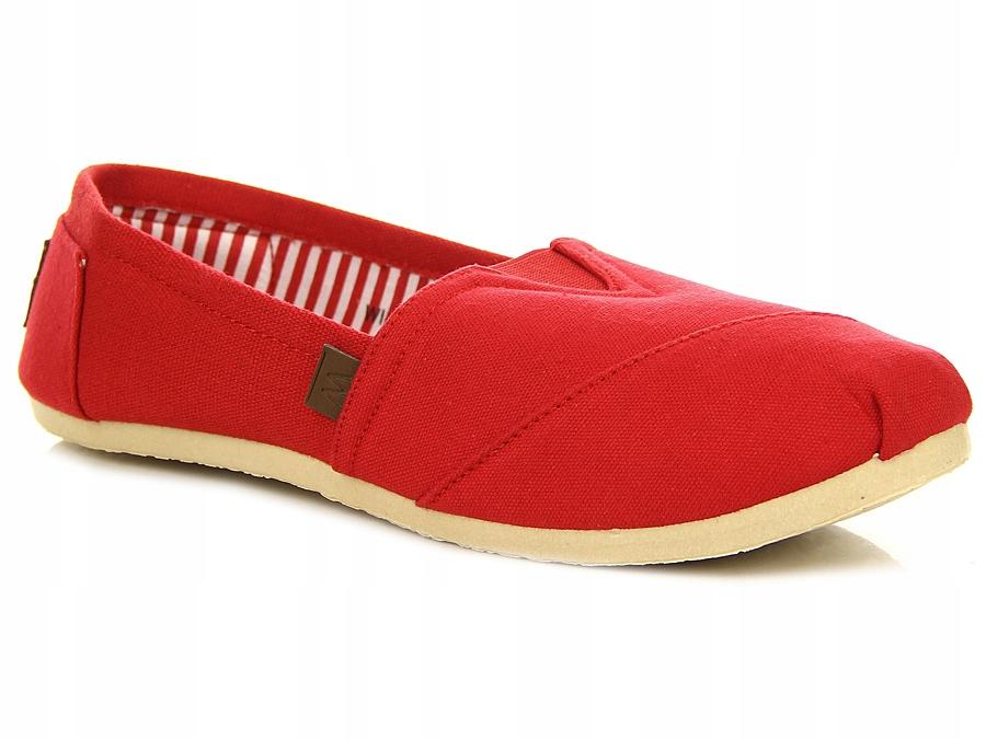 Modne czerwone buty sportowe męskie siatka wishot Zdjęcie