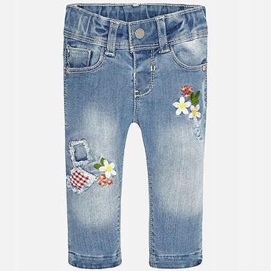 17fbe1814bb10 MAYORAL spodnie 1545 JEANS z haftem 74 - 7126269579 - oficjalne ...