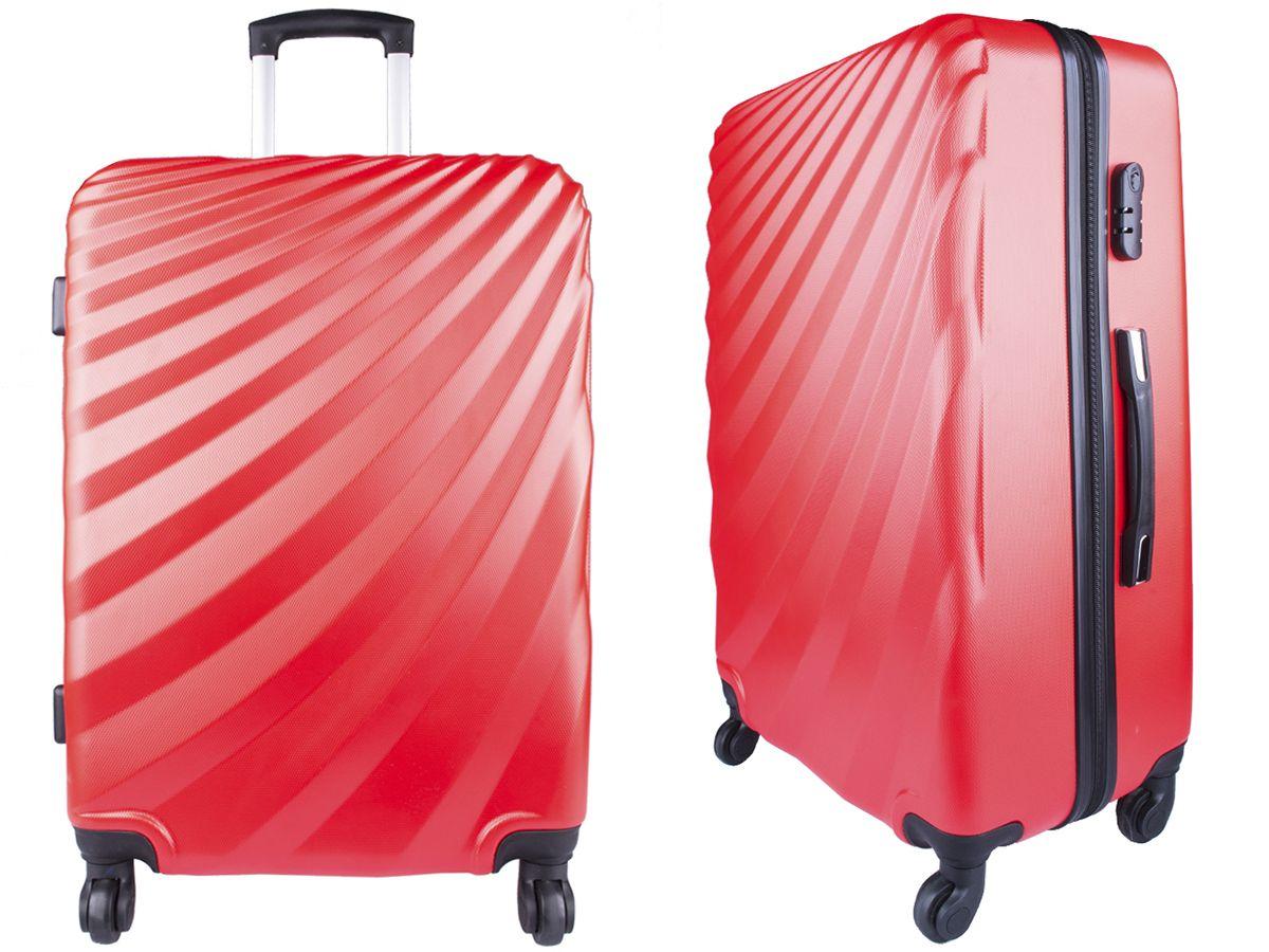 e35574a8edb6f Duża TWARDA walizka Vip Seszele 96L 28  Czerwona - 7606251225 ...