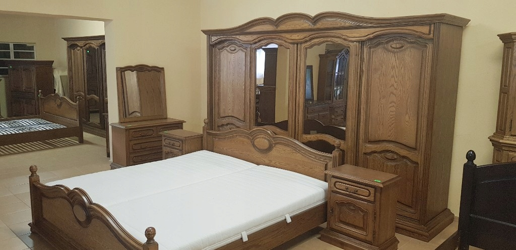 Sypialnia Dębowa łóżko Szafa Komoda