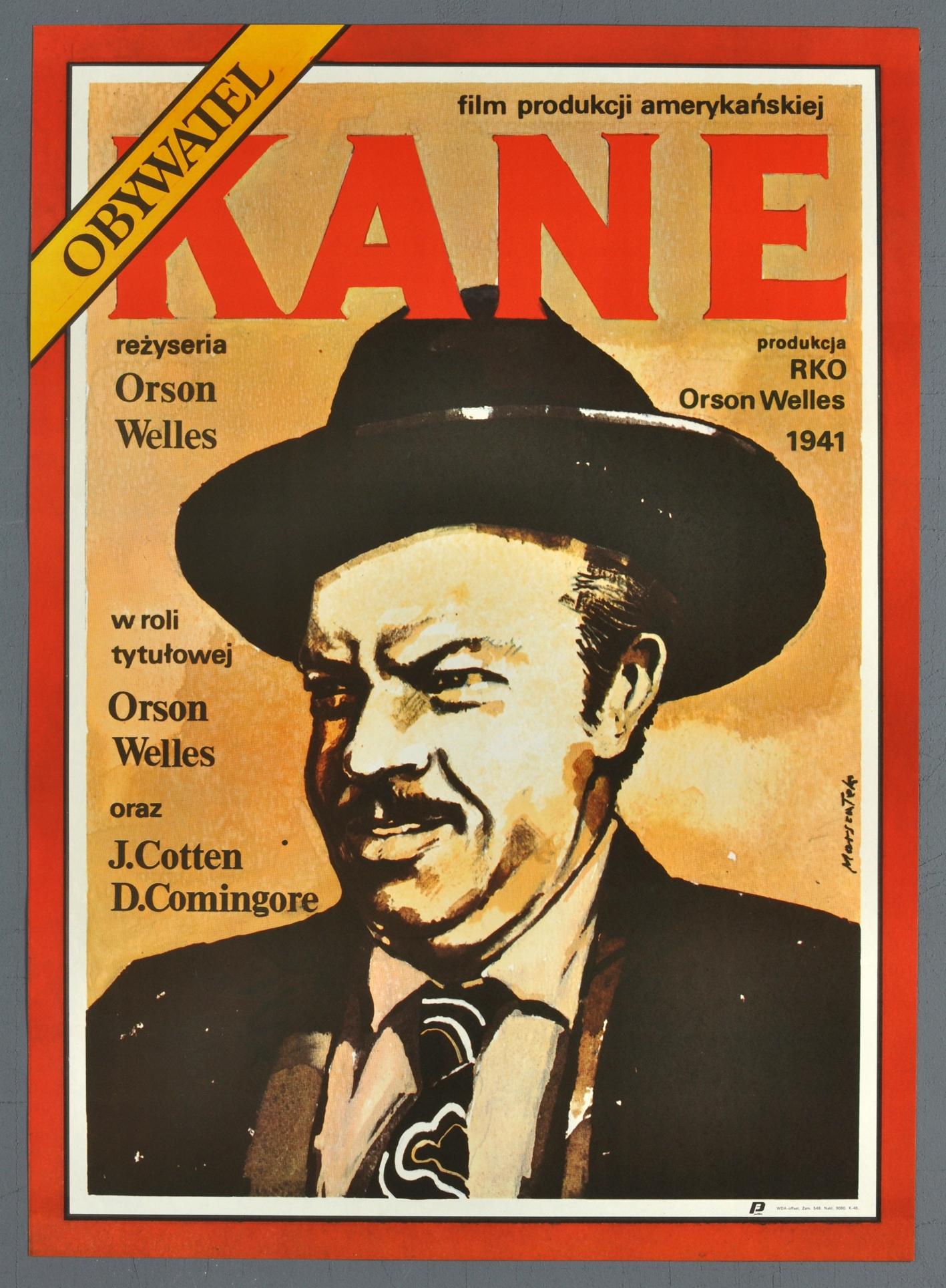 Plakat Kinowy Prl Obywatel Kane Orson Welles