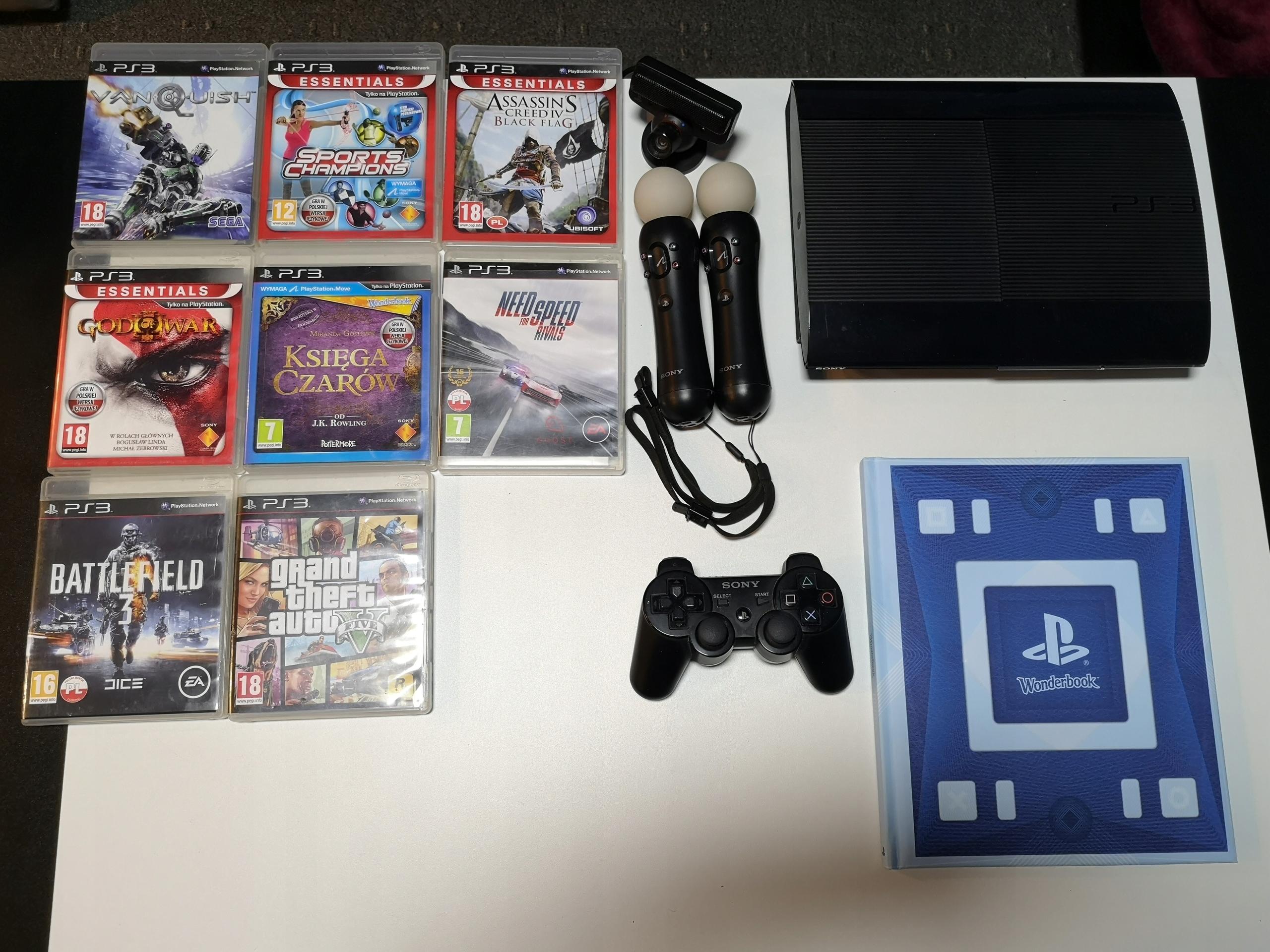 Playstation 3 Super Slim Gry Move 7696145350 Oficjalne