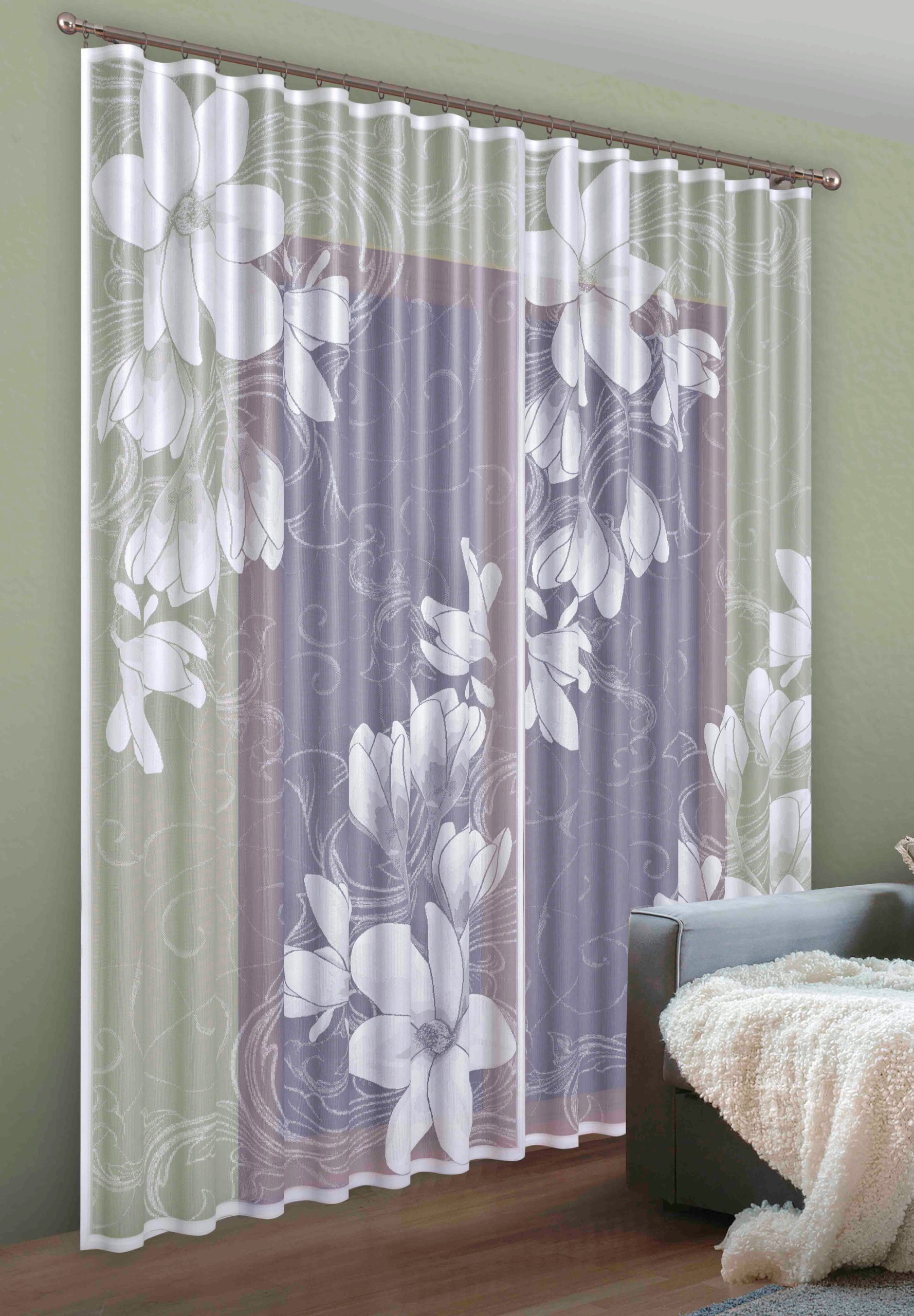 Firanki Magnolia Firanka Firany Kwiat Iwg272 Wisan