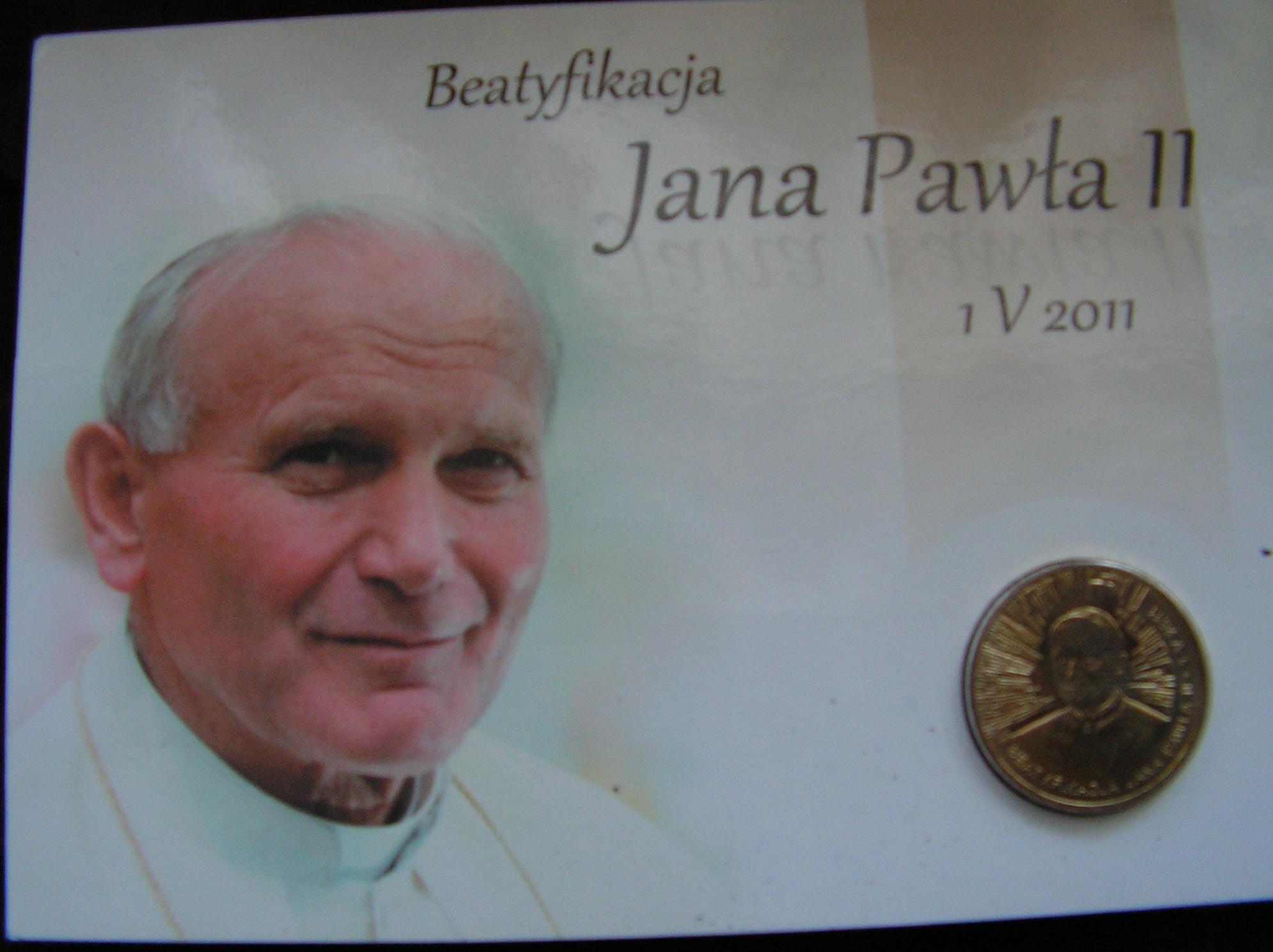 2 zł blister - Beatyfikacja Jana Pawła II