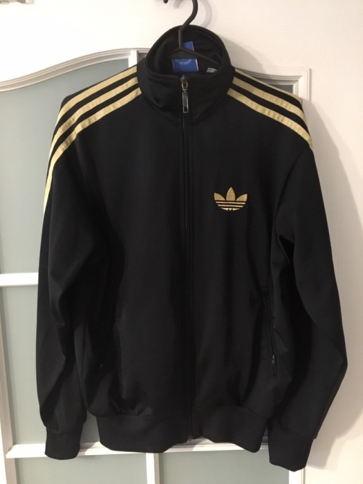 Bardzo dobra Bluza damska Adidas, oldschool, czarno-złota. - 7136188877 YT54