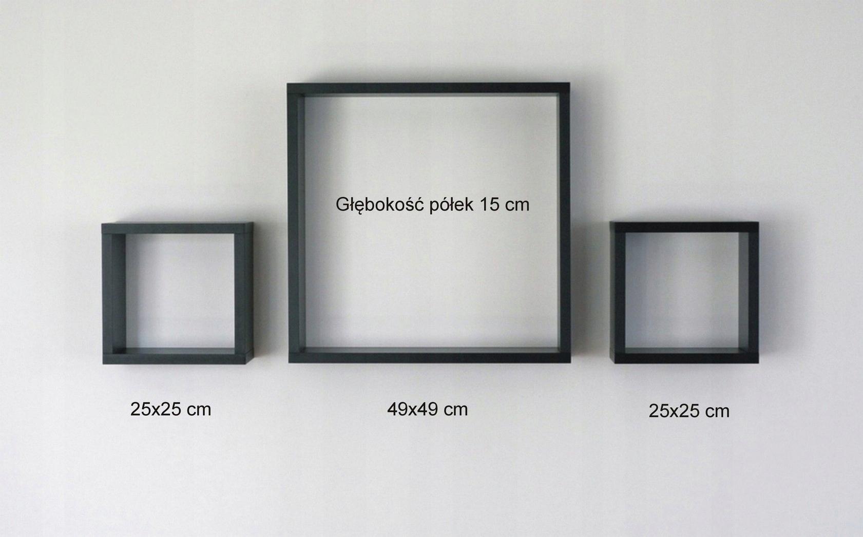 Półki Na ścianę Kubiki Polki Wiszące Trio 7515643797