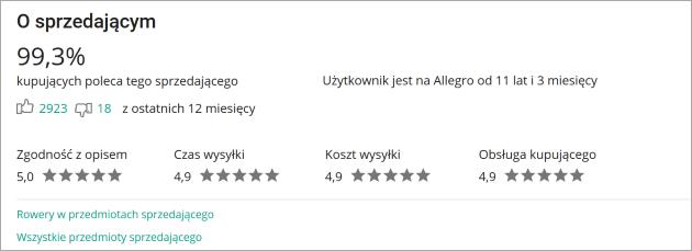 d4b6e38e170110 Gdzie i jak sprawdzę opinię o Sprzedającym? - Pomoc Allegro