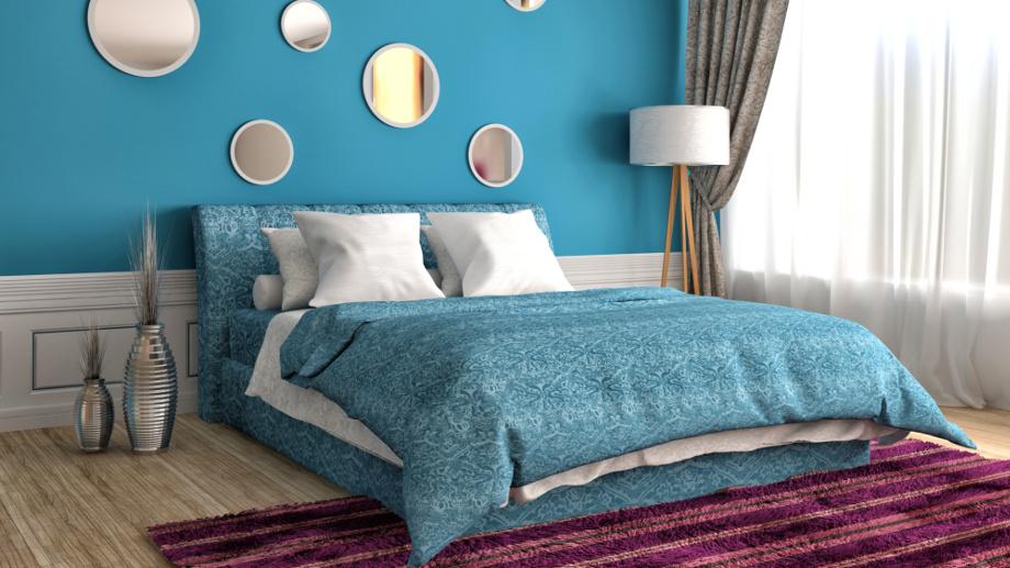 Pomysł Na Wnętrze Niebieska Sypialnia Allegropl