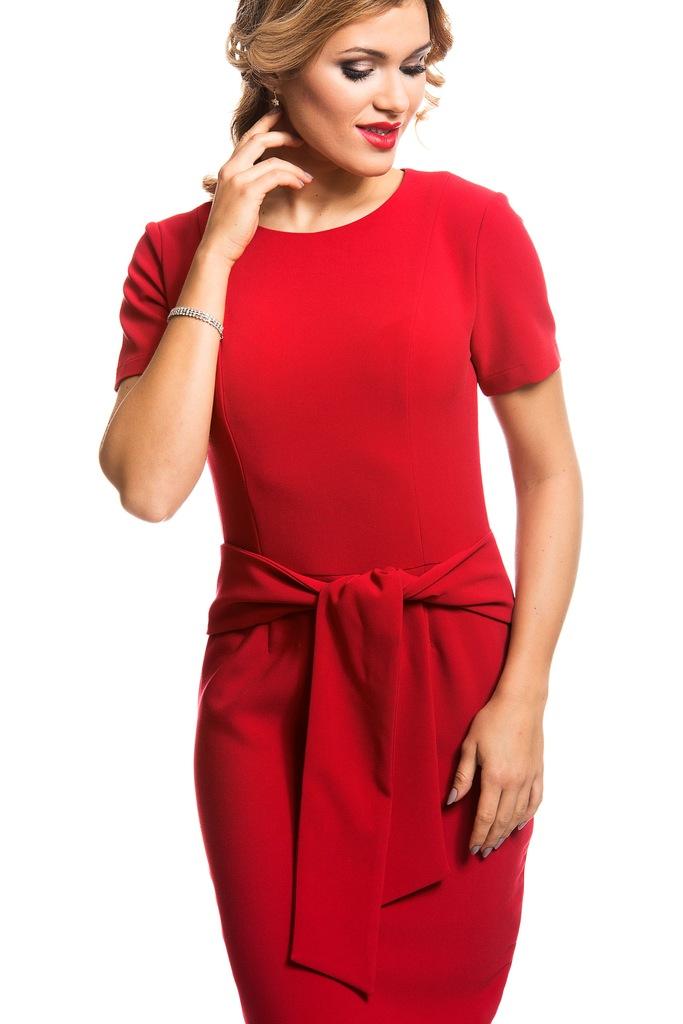Sukienka ECHO MALTA 2-16912-116110-080220 czerwony S