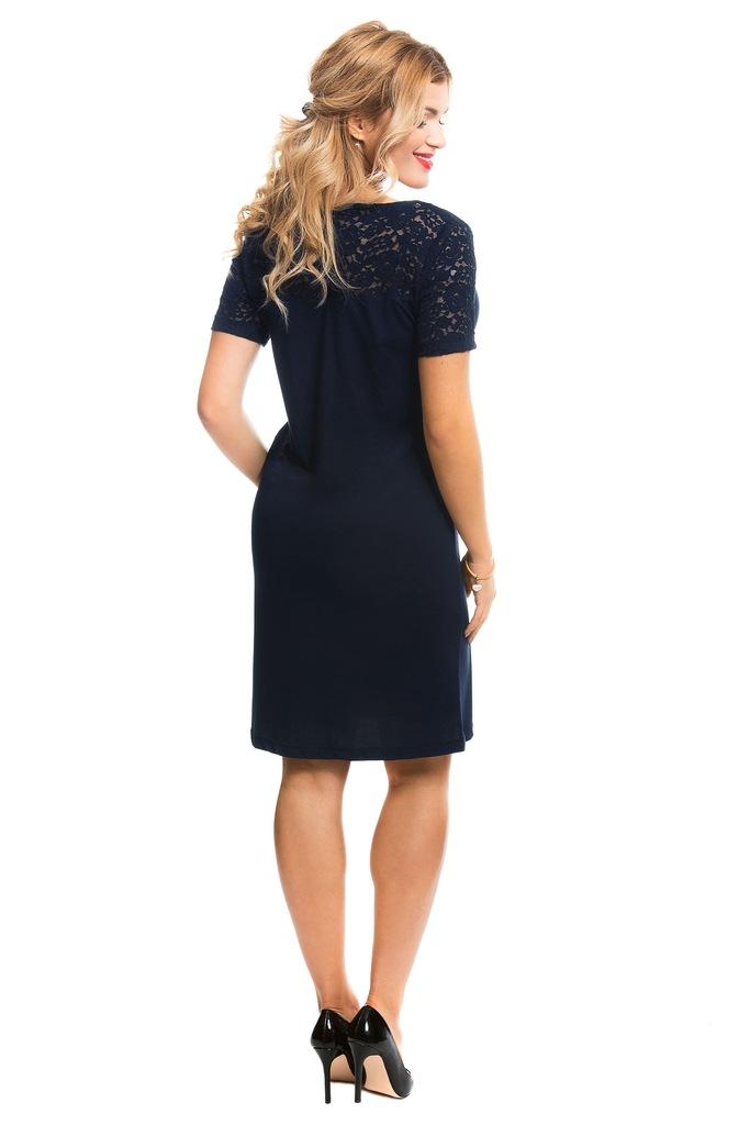 Sukienka ONLY JDYKIMMIE S/S LACE DRESS JRS RPT1 15133890 granatowy M