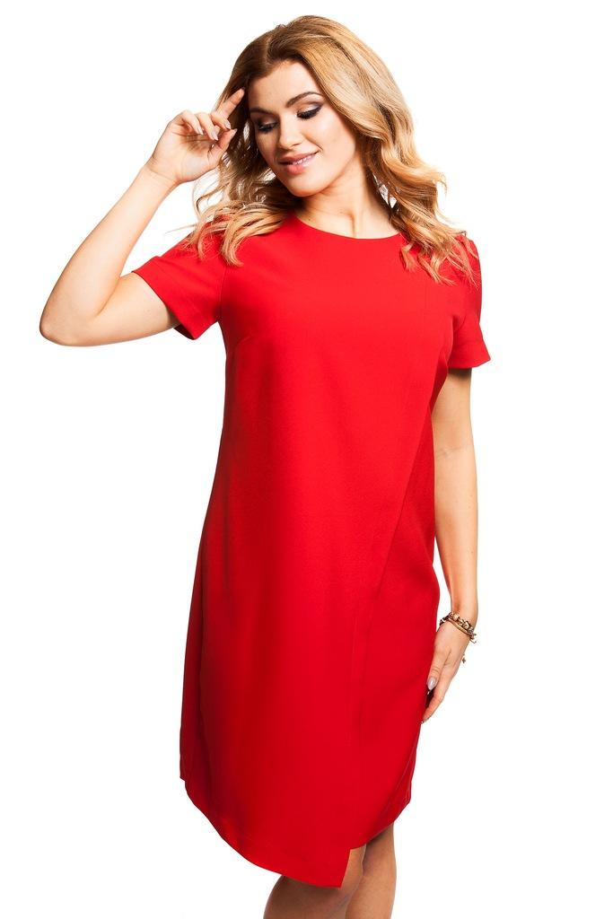Sukienka ECHO LUNANA 2-16968-116114-080210 czerwony XS