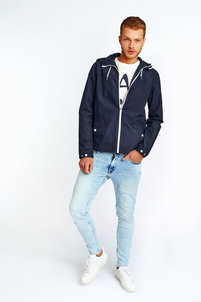 Kurtka Jack & Jones JORORIGINALS SPRING JACKET 12109034 granatowy M