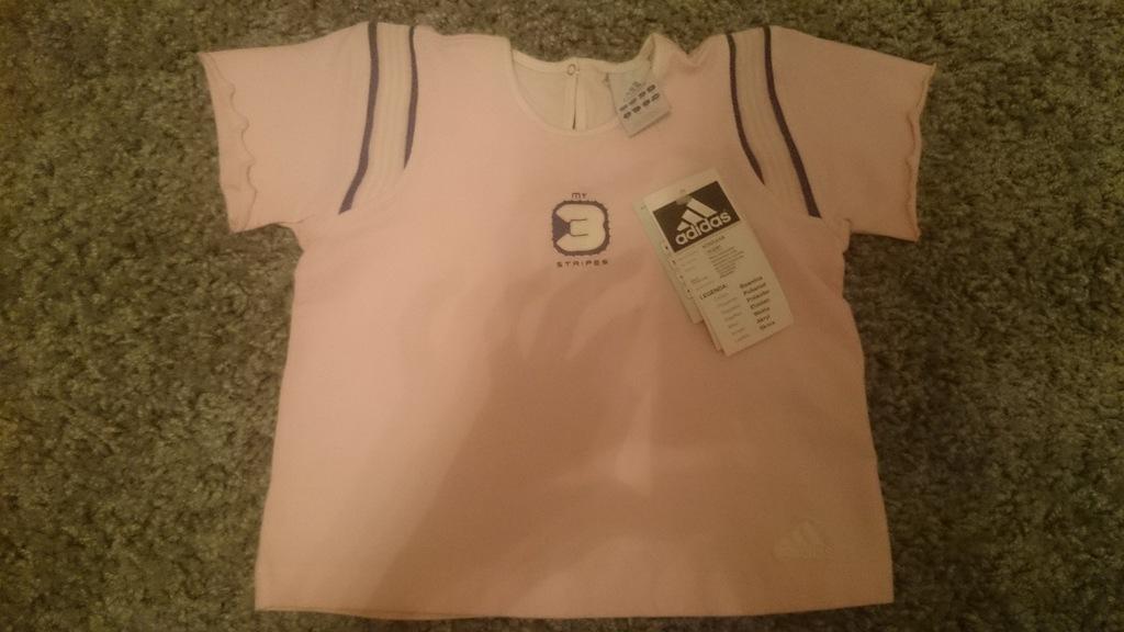 dziewczęca różowa koszulka t-shirt adidas 98 cm
